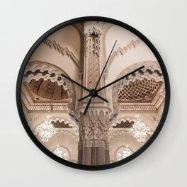 The Eyes of Hassan II Mosque - Casablanca, Morocco Wall Clock