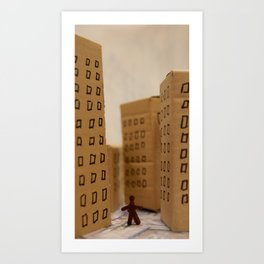 Urban life neurosis Art Print