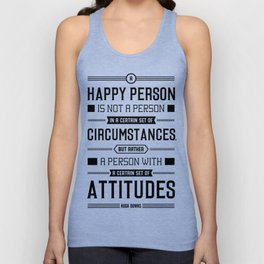 Lab No. 4 A Happy Person Is Not Hugh Downs Motivational Quote Unisex Tank Top