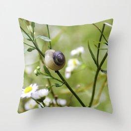 The snail way Throw Pillow