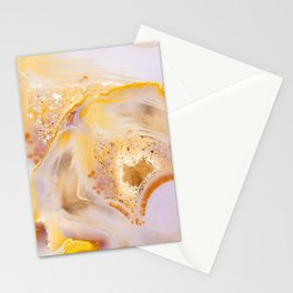 Modern Blush and gold Agate Stationery Cards