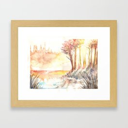Watercolor Landscape 03 Framed Art Print