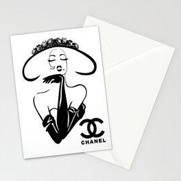 beautiful  lady Stationery Cards