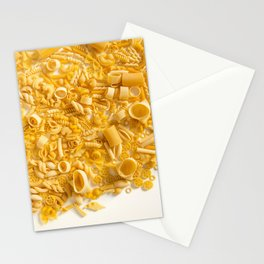 Group of Pasta on White Stationery Cards