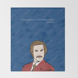 Ron Burgundy Anchorman  Throw Blanket