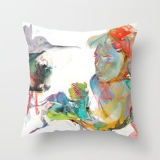 Drifting Particles Throw Pillow