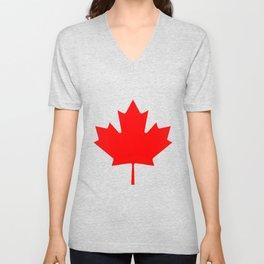Canadian Maple Leaf Unisex V-Neck