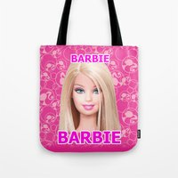 barbie Tote Bags featuring Barbie by Maxvision