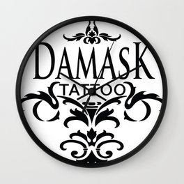 Damask Tattoo  Wall Clock