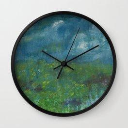 Rainy Prairie Wall Clock