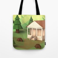 cabin pressure Tote Bags featuring Cabin by CharismArt