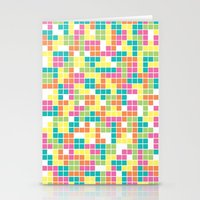 tetris Stationery Cards featuring Tetris by Alisa Galitsyna