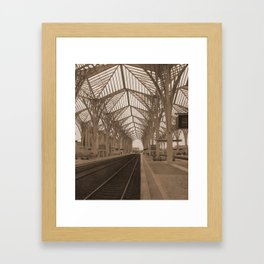 gare do oriente Framed Art Print