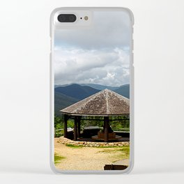 Scenic View Mountains Photography Clear iPhone Case