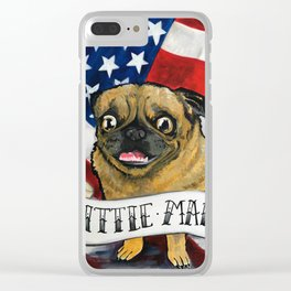 Little Man Clear iPhone Case