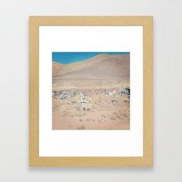 Graveyard. Framed Art Print