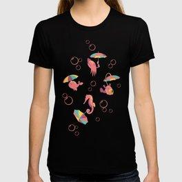 A Chance of Rain - Coral & Cream T-shirt
