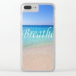 Breathe Cayman Relaxing Beach Waves Clear iPhone Case