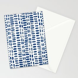 Abstract rectangles - indigo Stationery Cards