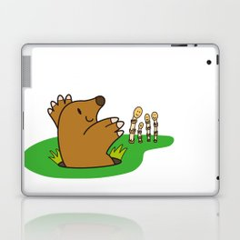 a Mole from the ground greets horsetail Laptop & iPad Skin