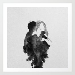 You are my peaceful heaven b&w. Art Print