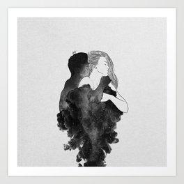 You are my peaceful heaven b&w. Art Print