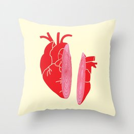 Heart Slice Throw Pillow