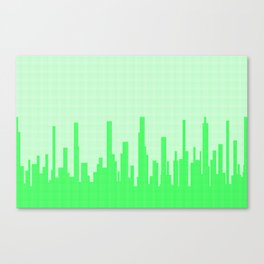 City Greenscape Halftone Canvas Print