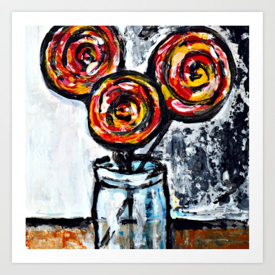 Sweet Treats Still Life: Lollipops Art Print