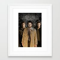 supernatural Framed Art Prints featuring Supernatural by SB Art Productions