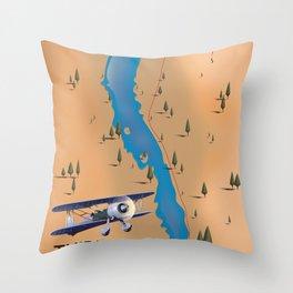 Thirlmere Reservoir Map Throw Pillow