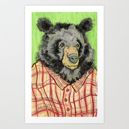 Urban Bear Art Print