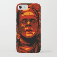 frankenstein iPhone & iPod Cases featuring Frankenstein by Denis O'Sullivan