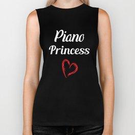 Piano Princess Professional Musician Heart T-Shirt Biker Tank