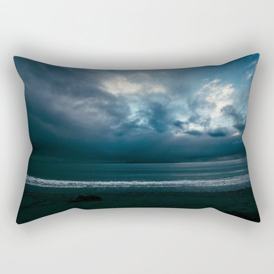 Blue Sunset Rectangular Pillow