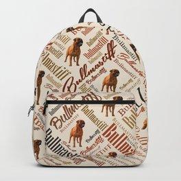 Bullmastiff Word Art Backpack