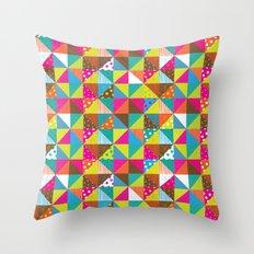 Crazy Squares Throw Pillow