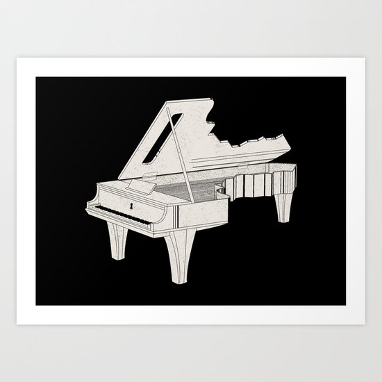 Music Is The Key. Art Print