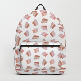 Isolated bacon meat slices pattern Backpack