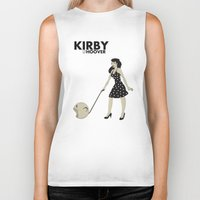 kirby Biker Tanks featuring Kirby Hoover by Lily's Factory