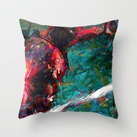 sword Throw Pillows featuring SWORD DP by DITO SUGITO