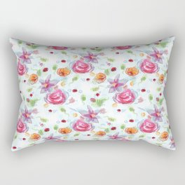 Floating Flowers Rectangular Pillow
