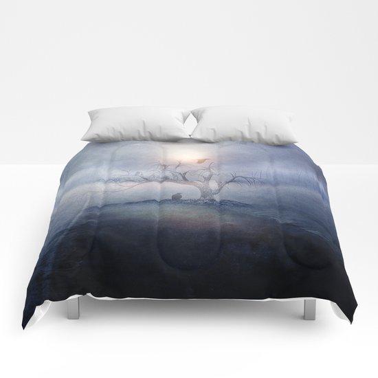 Blue sunrise Comforters