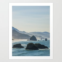 Haystack Rock from Crescent Point Art Print