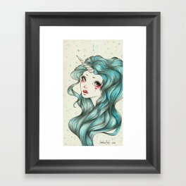 Unicorn Girl Framed Art Print