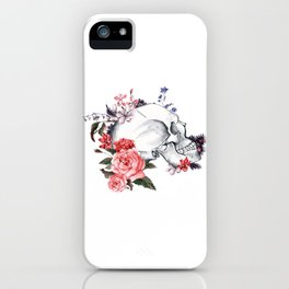 Roses Skull - Death's head iPhone Case