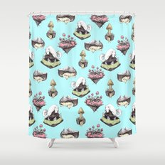 dog averywhere Shower Curtain