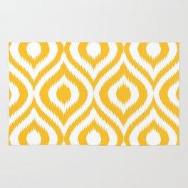 Yellow & White Pattern Rug