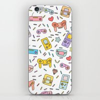 gaming iPhone & iPod Skins featuring Gaming by Irene Florentina