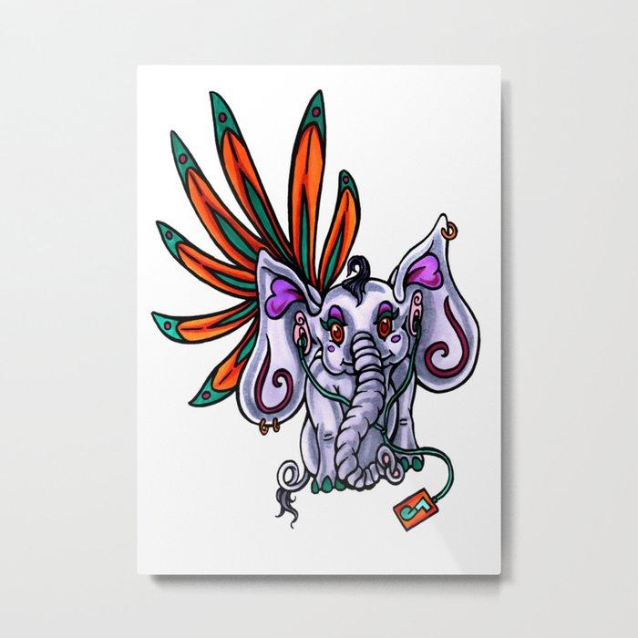 Elephant Dance Metal Print